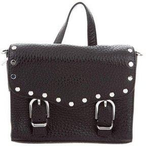 Rebecca Minkoff Mini Studded Leather Satchel - BLACK - STYLE