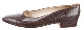 Chanel Lizard Cap-Toe Flats