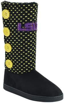 NCAA Women's LSU Tigers Button Boots