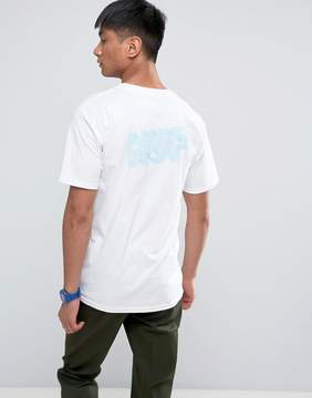 HUF T-Shirt With Optical Logo Back Print