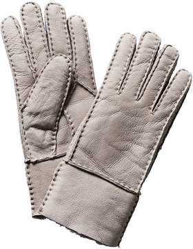 Surell Grey Leather Gloves