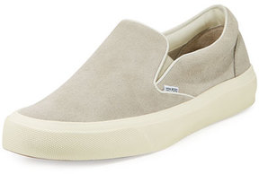 Tom Ford Cambridge Suede Slip-On Sneaker, Light Gray