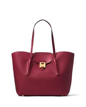 Michael Kors Bancroft Large Pebbled Leather Tote Bag - WINE - STYLE