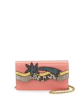 Gucci Broadway Shooting Star Clutch Bag, Pink/Multi - PINK MULTI - STYLE