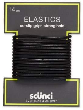 Scunci No-Slip Grip Strong Hold Elastics - 14pk