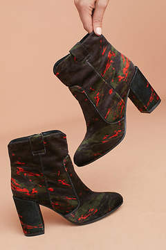 Bruno Premi Printed Velvet Ankle Boots