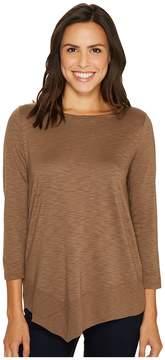 Lilla P 3/4 Sleeve Asymmetrical Boat Neck Women's Clothing