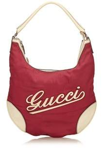 Gucci Pre-owned: Nylon Shoulder Bag. - PINK X WHITE X IVORY - STYLE