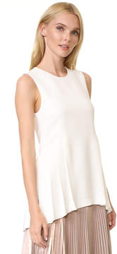ADAM by Adam Lippes Crew Neck Top with Pleats
