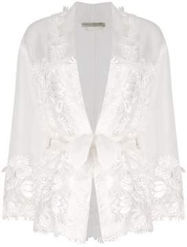 Ermanno Scervino lace applique semi-sheer jacket