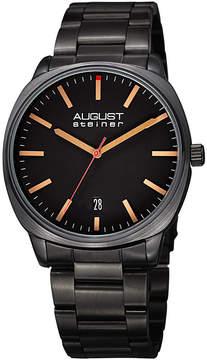 August Steiner Mens Black Strap Watch-As-8237bk
