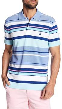Brooks Brothers Knit Oxford Varigated Striped Slim Fit Polo Shirt