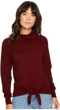 Bishop + Young Front Tie Turtleneck Top Women's Clothing