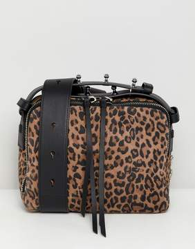 AllSaints Vincent crossbody bag in leopard