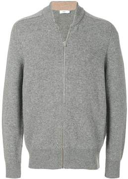 Closed V-neck zip up sweatshirt