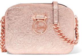 Christian Louboutin Rubylou Metallic Textured-leather Shoulder Bag - Pink