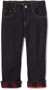 Gap Stretch flannel-lined straight jeans