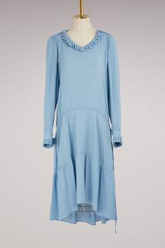 Balenciaga Georgette long-sleeved dress