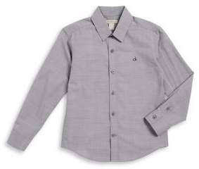 Calvin Klein Jeans Boys Woven Cotton Button-Down Shirt