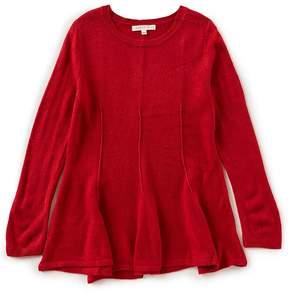 Copper Key Big Girls 7-16 Peplum Long-Sleeve Sweater