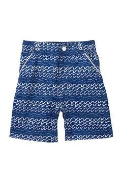 Andy & Evan Navy Wave Striped Swim Shorts (Toddler & Little Boys)
