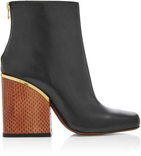 Marni Leather and Python Ankle Boots