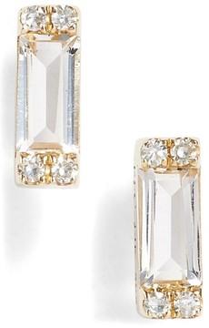 Ef Collection Women's Diamond & Topaz Baguette Stud Earrings
