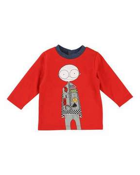 Little Marc Jacobs Mister Marc Essentials Long-Sleeve Graphic Tee, Size 2-3