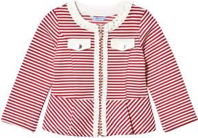 Mayoral Red Stripe Jersey Jacket