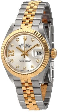 Rolex Lady-Datejust Silver Diamond Dial Automatic Ladies Watch