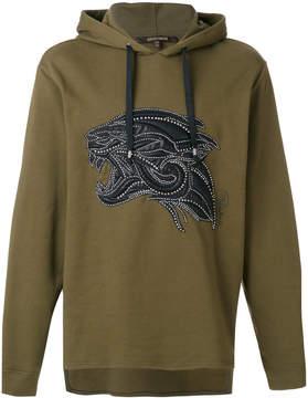 Roberto Cavalli studded tiger hoodie
