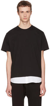 Neil Barrett Black and White Combo T-Shirt