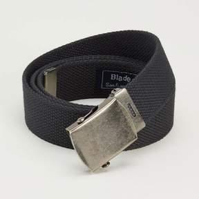 Blade + Blue Black Cotton Web Military Belt