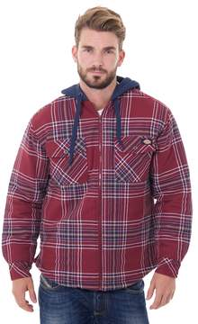 Dickies Men's Plaid Flannel Hooded Shirt