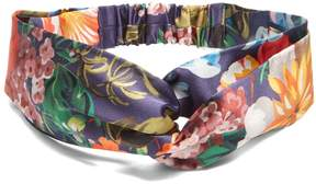 GUCCI Floral-print silk-satin headband