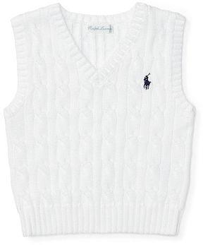Ralph Lauren Baby Boy Cable-Knit Cotton Sweater Vest