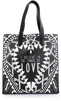 Givenchy Pre-owned: Power Of Love Tote Printed Leather Large.
