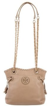 Tory Burch Leather Shoulder Bag - NEUTRALS - STYLE