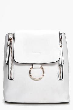 boohoo Diana Loop Ring Detail Rucksack