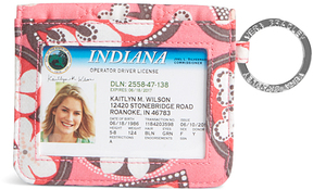 Vera Bradley Blush Pink Campus Double ID Wallet - BLUSH - STYLE