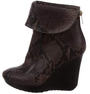 Jimmy Choo Embossed Wedge Ankle Boots