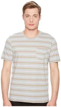 Billy Reid Short Sleeve Striped T-Shirt Men's Clothing