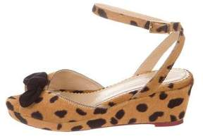 Charlotte Olympia Ponyhair Wedge Sandals