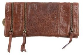 Stuart Weitzman Distressed Leather Clutch