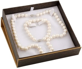 Bella Pearl White Freshwater Pearl Boxed Jewelry Set SET-D