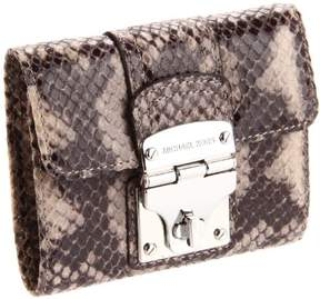 MICHAEL Michael Kors Jenna Embossed Python Small Wallet