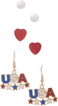 Carole Three-Pair 'USA' Earrings Set