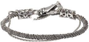Emanuele Bicocchi Silver Torsion Bracelet