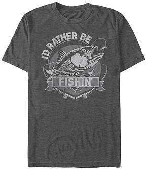 Fifth Sun Heather Charcoal 'I'd Rather Be Fishin'' Tee - Men