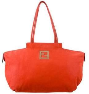 Fendi Nubuck Shoulder Bag
